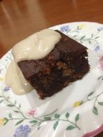 Choc Nut Brownie with Cashew Cream
