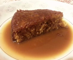 Sticky Pineapple Pudding with Caramel Sauce