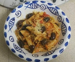 Chicken, Chorizo and Olive Penne