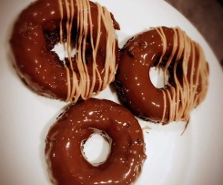 Choc Mint Brownie Donuts